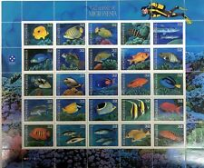 1996 MICRONESIA NATIVE FISH STAMPS SHEET SCOTT #227 AQUARIUM TROPICAL FISH REEF