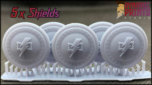5x Custom White Scar Spartan Storm Shield Accessories Bits compatible with WH40k