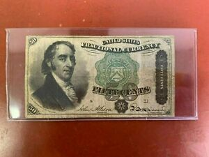 1863 $.50 Fractional Currency Note! Fifty Cent Bill! Bank Stamp Act Civil War!