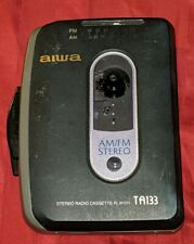 Aiwa Hs-Ta133 Am/Fm Portable Stereo Cassette Player And Radio Tested Works Euc