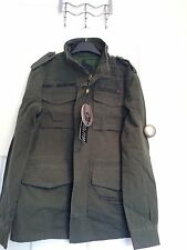 Men's Ringspun Olive Green Army Style Jacket Size XL