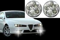Universal 4 LED DRL Rund Tagfahrlicht Tagfahrleuchten TFL Weiß Nebel Licht 12V