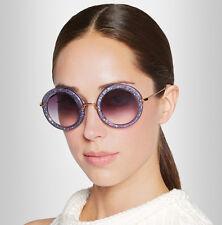 Miu Miu Round Glitter Sunglasses