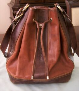 Marino Orlandi Italian Leather Shoulder Strap Handbag Purse! Two Tone Leather!
