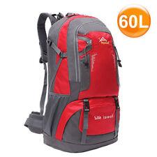60L Trekking Wanderrucksack Reiserucksack Outdoor  Rucksack Camping Sport Rot