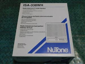 """NUTONE ISA-338WH 8"""" Radio-Intercom Inside Speaker"""