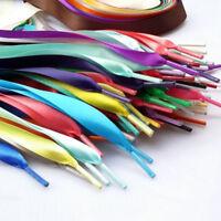 Unisex Shoelaces Flat Silk Satin Ribbon Sport Shoes Laces Sneakers Shoe Strings