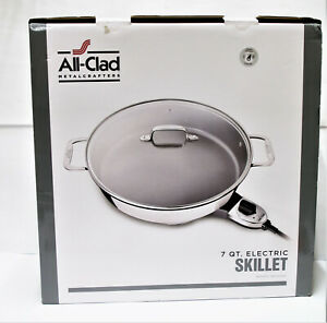 All-Clad 7 QT Stainless Steel  Electric Skillet w/ Glass Lid #1099