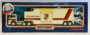 Matchbox Superkings k-159 Porsche Racing Team Transporter
