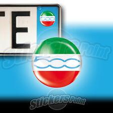 3 ADESIVI targa 500 tricolore ITALIA azzurro Fiat stickers  auto moto camper