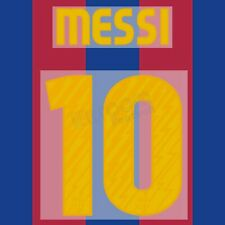 2010-11 Barcelona Player Issue Home Name Set #10 MESSI for Shirt Jersey