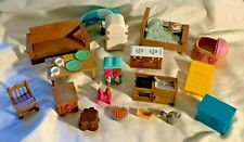 Lil Woodzeez Doll Furniture Other Pieces REFRIGERATOR Ice Cream Maker, Bassinet