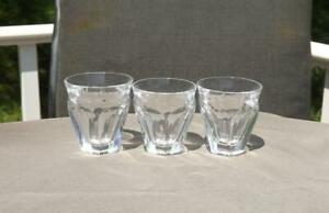 3 Baccarat Harcourt Talleyrand Tumblers Shot Glasses Mint Condition