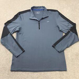 Brooks Running Shirt Men's L Equilibrium Technology 1/4 Zip Long Sleeve Gray