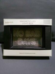 Locker Style Magnetic LED Light Box No Bad Days