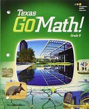 Go Math Texas Grade 8 Solutions Key 8th