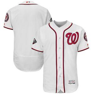 Blank Washington Nationals Men's White Majestic World Series Jersey