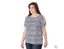 NWT Michael Kors Plus Size Zephyr Slit Sleeve Top ~ SIZE 0X (=XL) ~ True Navy