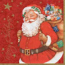 4 Motivservietten Servietten Napkins Tovaglioli Weihnachten Weihnachtsmann (954)