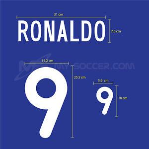 RONALDO #9 Brazil Away 2000-02 PU NAME NUMBER PRINT FREE SHIPPING