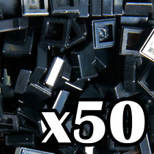 NEW LEGO - TILES - Black 1x1 - x50 -  1 x 1 smooth flat tile
