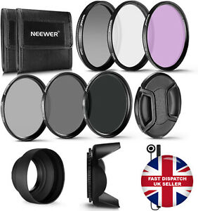 Neewer 72MM Professional UV CPL FLD Lens Filter and ND Filter Kit Xmas Gift UK