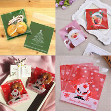 20pcs Cookie Biscuit Plastic Gift Bags Sweet Candy Self-adhesive Party Xmas Bags