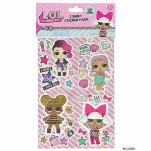L.O.L Surprise Lol2009 2 Sheets Of Stickers, Pink