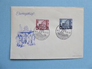 """FDC """"Leipziger Herbstmesse 1954"""" Mi:433/34 - sehr seltener Stempel Hauptbahnhof"""