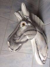 Tête de cheval cavalier supports muraux MARBRE MOTIF 38 cm beige cadeau déco