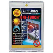 50 ULTRA PRO One Touch Magnetic Holders 55pt UV Gold Magnet 55 point