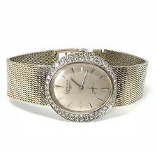 Longines 14K White Gold 1.25ctw Diamond Watch 7.5 Length