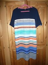 Sz 16 By M & Co, ABSTRACT STRIPED DRESS