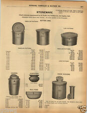 1925 PAPER AD Pacific Clay Products Co LA California Stoneware Cider Cooler Jars