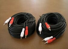 2 Pack - 100Ft 2-RCA MALE DUAL AUDIO PATCH CORD CABLE TV STEREO RECEIVER 100'Ft