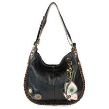 Chala CONVERTIBLE Hobo Large Tote Bag BUTTERFLY Vegan Leather BLACK