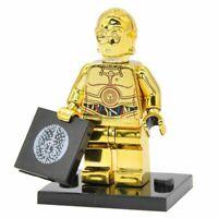 New C3PO Chrome Minifigures - Star Wars Figure For Custom Lego Minifigures