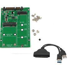 2 in 1 Mini PCI-E 2 Lane M.2 And mSATA SSD To SATA III 7+15 Pin Adapter sata cab