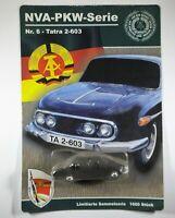 Vintage GDR car model Tatra 2-603 NVA No. 6 NVA Diecast car series