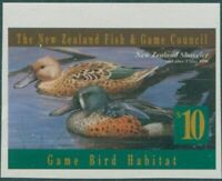 NZ Fish and Game Council 1996 $10 Shoveler imperf MNH