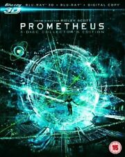 Prometheus 3 Disc Blu Ray 3D Ridley Scott Region Free