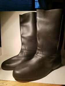 Use Totes Mens Size Extra Large Black Rubber Boots  Rain /Snow Dress boot Covers