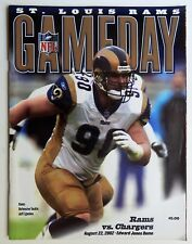 St Louis Rams vs San Diego Chargers Program Gameday Magazine August 22 2002
