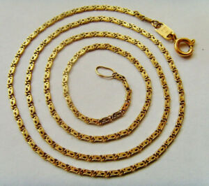 18ct Gold Scroll Chain 18 Inch or 46cm Length Hallmarked