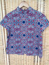 MONKI Size XS Red White Blue Star Shirt Blouse Geometric BNWT Button Up Back