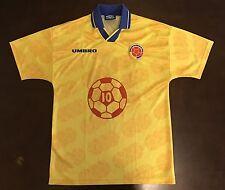 Rare Umbro Colombia Federacion Colombiana Carlos Vladerra Futbol Soccer Jersey