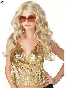 Brand New Sexy Super Model Movie Star Halloween Costume Wig - Blonde