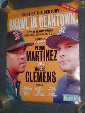 Pedro Martinez vs Roger Clemens Poster 1999 Boston Red Sox Yankees baseball