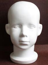 White Fiberglass Baby Child Children Mannequin Head for Wig,Hat and Sunglasses