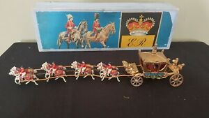 Vintage John Hill and Company Royal Coronation Coach Lead 10 pieces